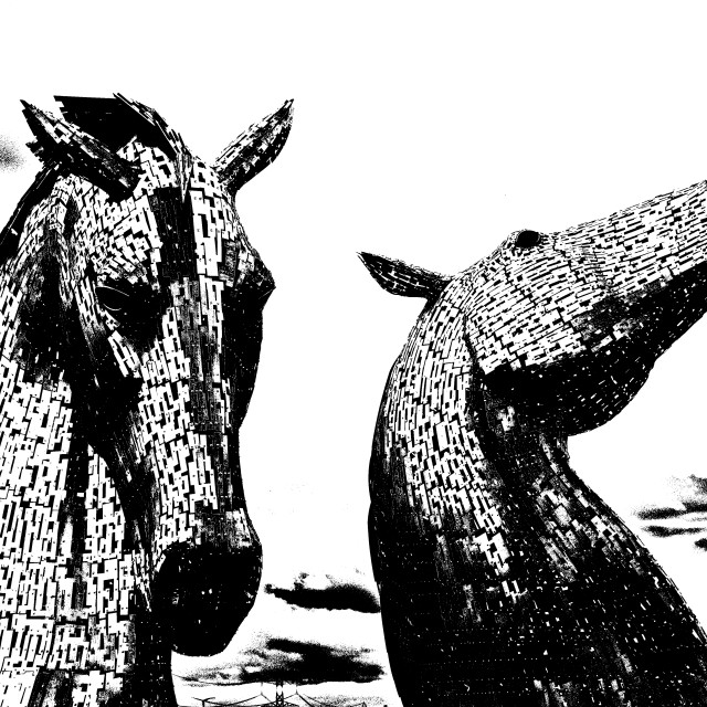 """The Kelpies 002"" stock image"