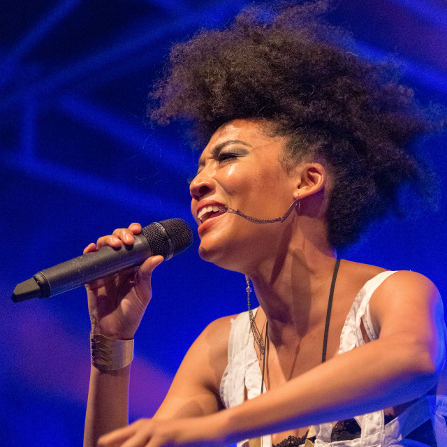 """Judith Hill at the Blues'n Jazz Rallye 2018 in Luxembourg"" stock image"