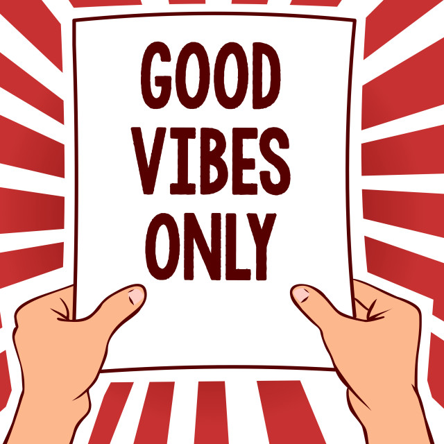 """""""Handwriting text writing Good Vibes Only. Concept meaning Just positive..."""" stock image"""