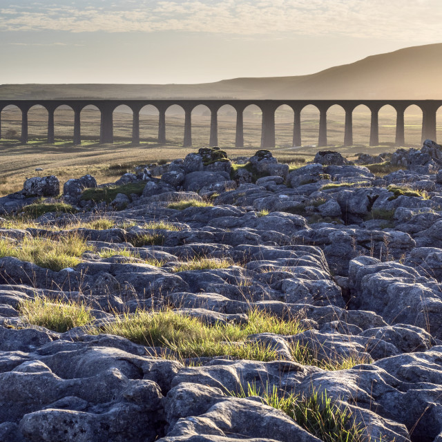 """""""Ribblehead Viaduct at Sunset"""" stock image"""