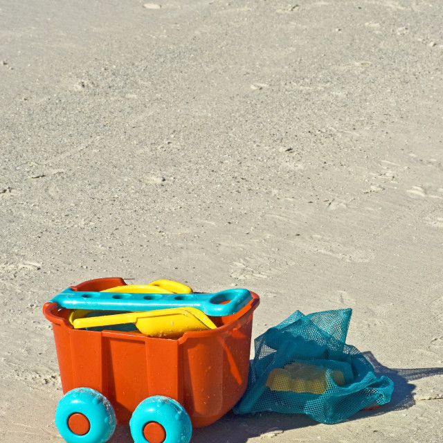 """""""Beach Toy Pull Cart"""" stock image"""