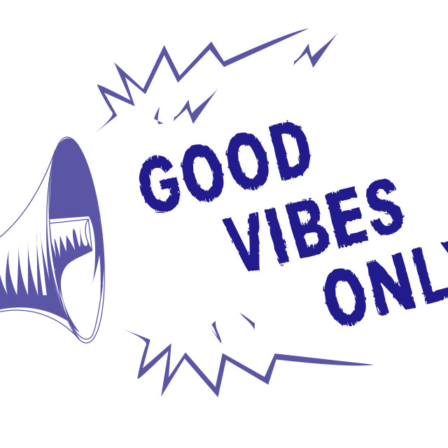 """""""Word writing text Good Vibes Only. Business concept for Just positive..."""" stock image"""
