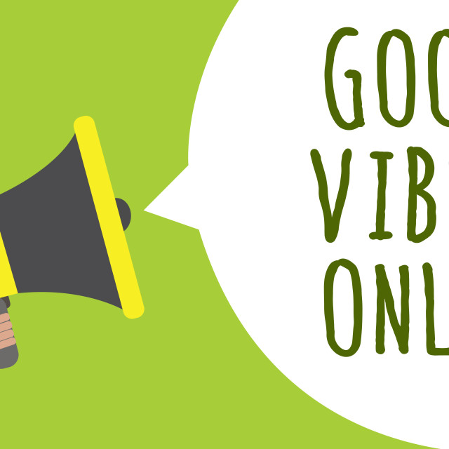 """""""Conceptual hand writing showing Good Vibes Only. Business photo showcasing..."""" stock image"""