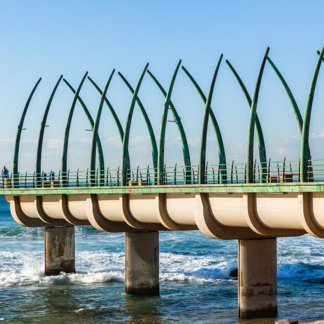 """""""Beach Ocean Pier Jetty Landscape"""" stock image"""