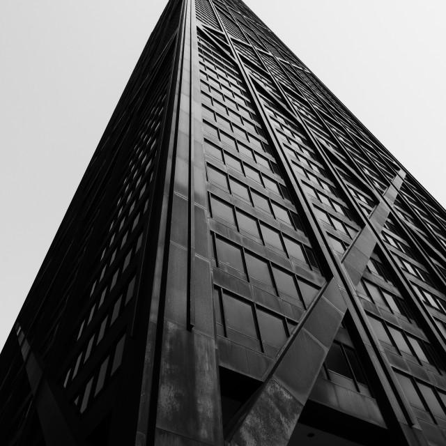 """""""John Hancock Center: Chicago"""" stock image"""