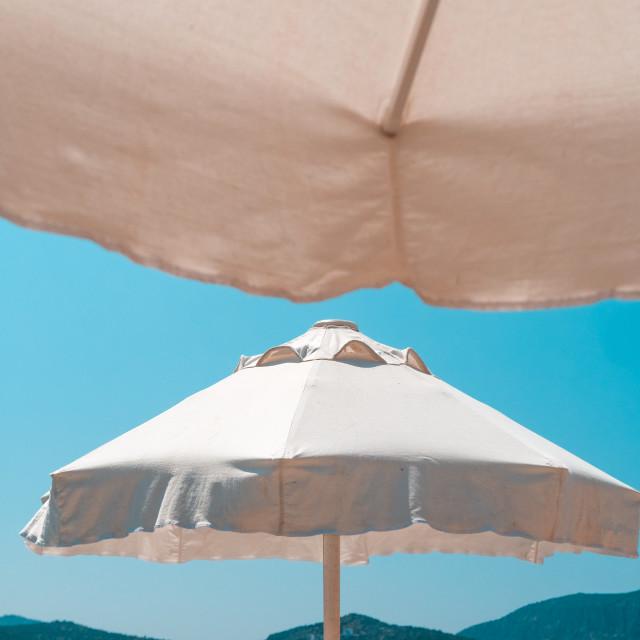 """Beach Umbrellas"" stock image"