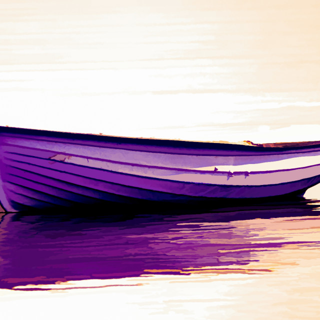 """Boat, Wooden, Rowing boat, Anchored"" stock image"