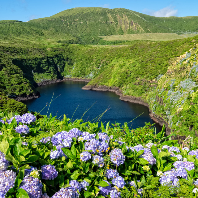 """Lagoa Comprida - Azores Islands"" stock image"