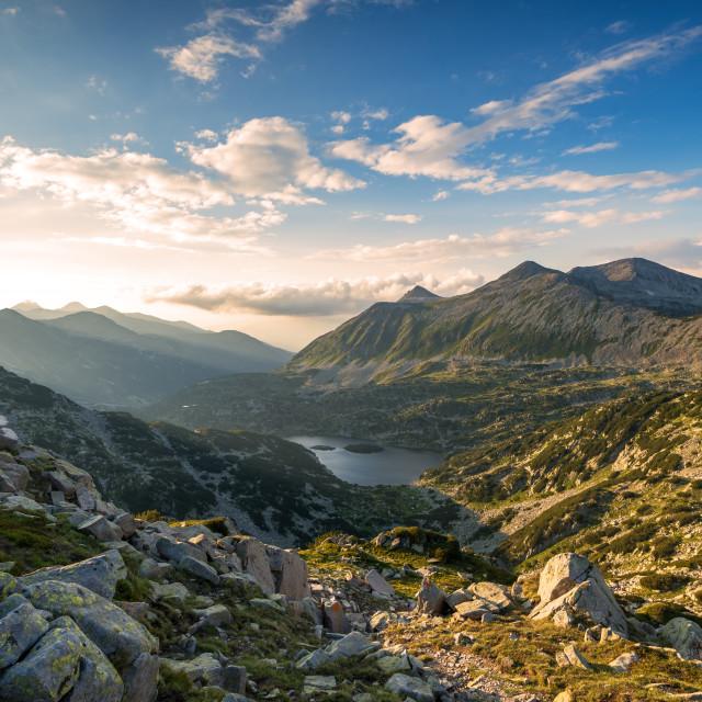 """Scenery summer landscape, Pirin Mountain, Bulgaria."" stock image"