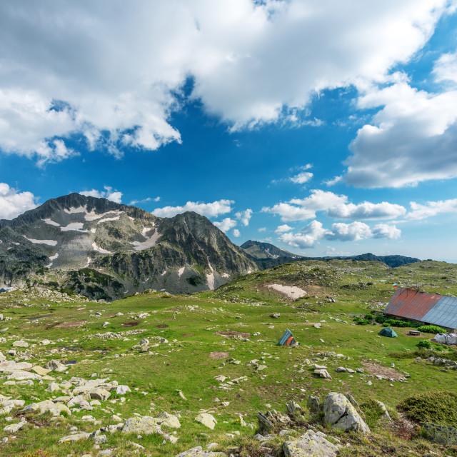 """""""Amazing Panorama from Kamenitsa peak, Pirin Mountain, Bulgaria."""" stock image"""