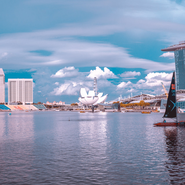 """Marina Bay Sail"" stock image"