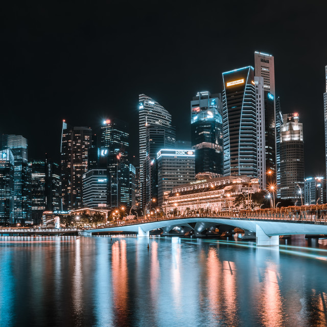"""Central Business District Singapore"" stock image"