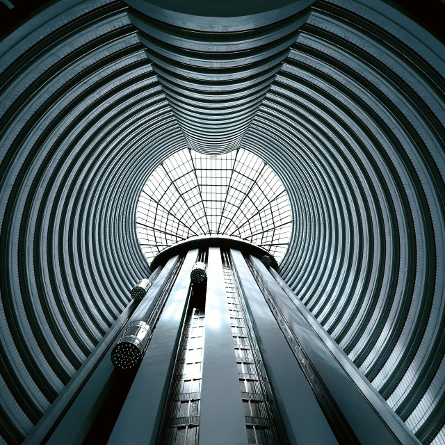 """Perspective on Hotel Atrium"" stock image"