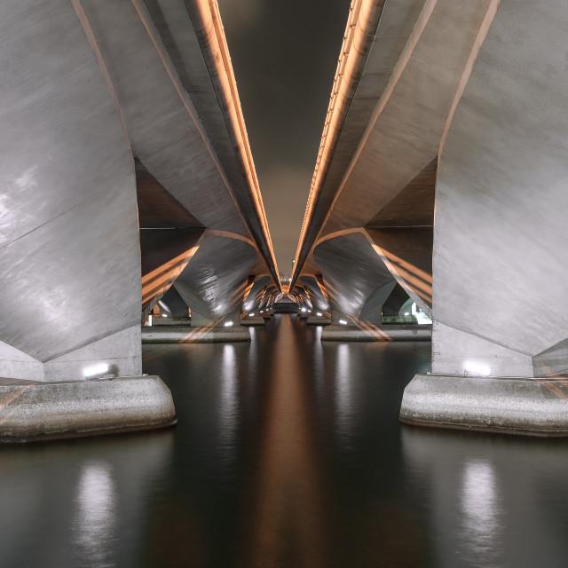 """""""Between bridges"""" stock image"""