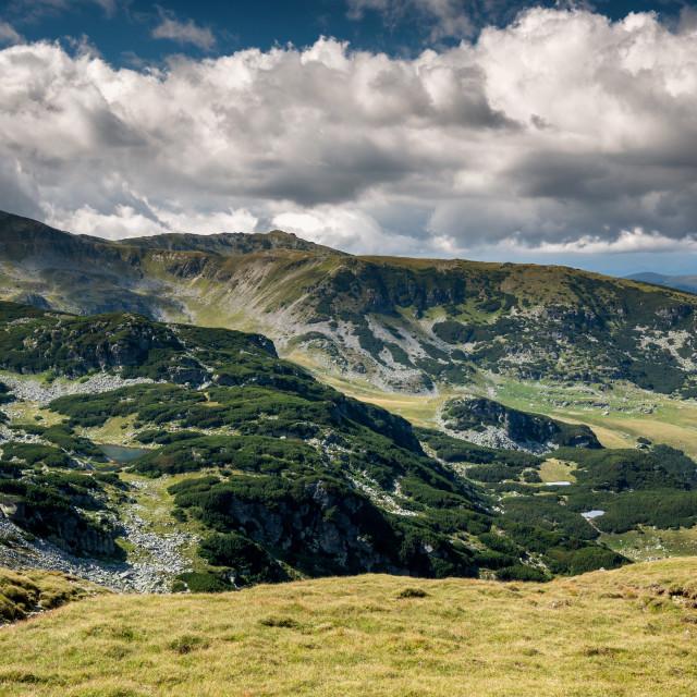 """""""Mountain range landscape"""" stock image"""