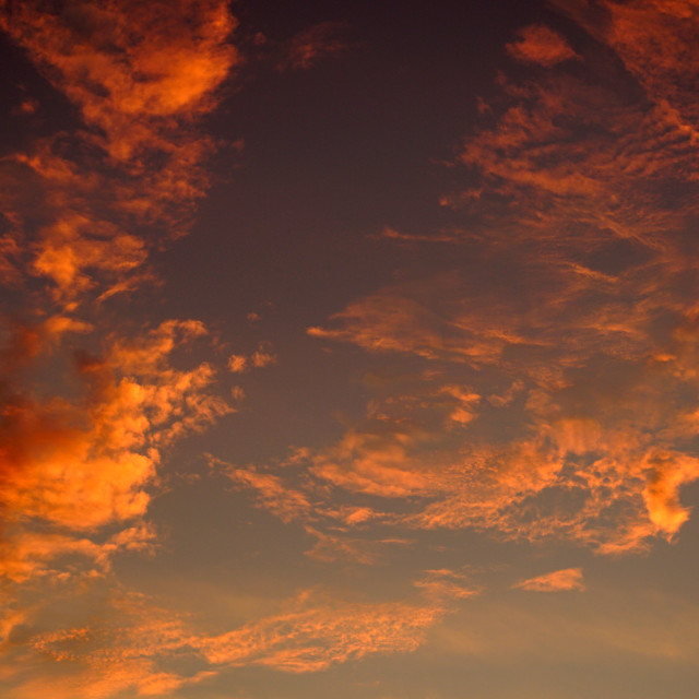 """Fiery Sky"" stock image"