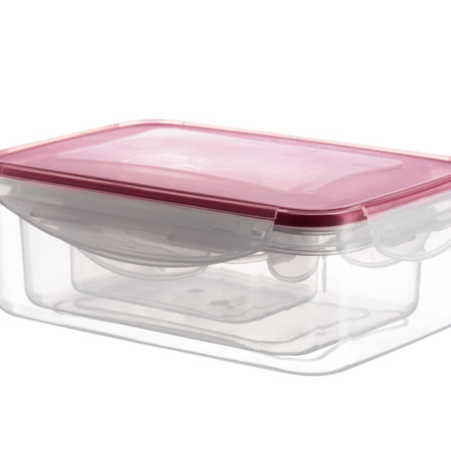 """""""Plastic food box or containers on a white background"""" stock image"""