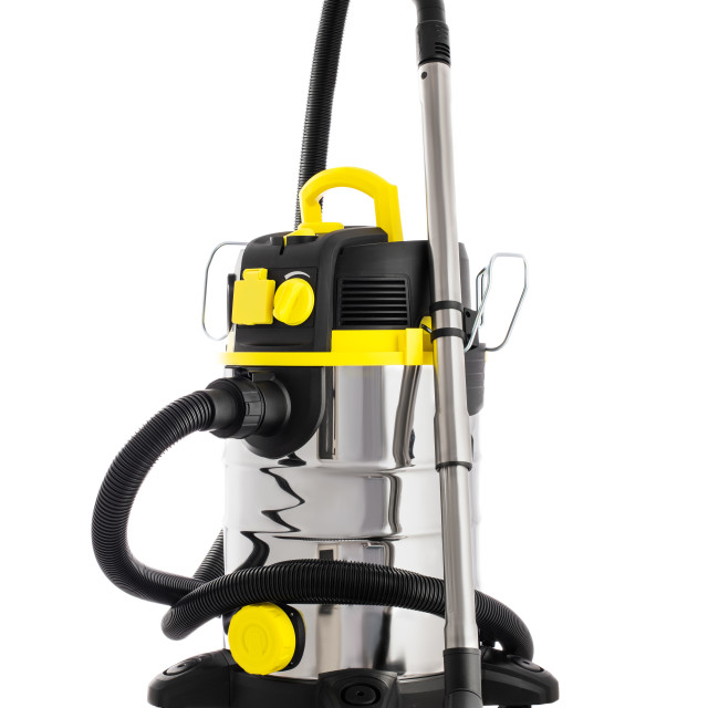"""""""Vacuum cleaner isolated on white. Professional cleaning machine"""" stock image"""