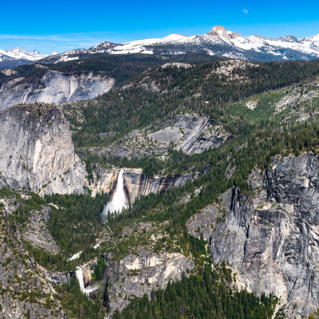 """View from Glacier Point, Yosemite"" stock image"