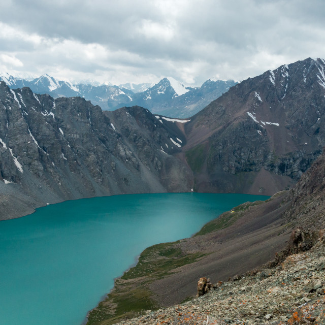 """Lake Alakol, near Altyn Arashan, Kyrgyzstan"" stock image"