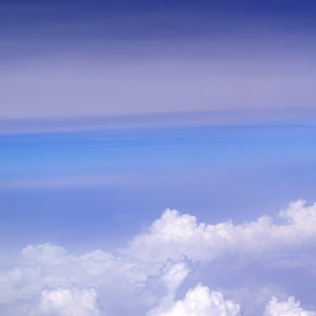 """White Clouds Blue Sky"" stock image"