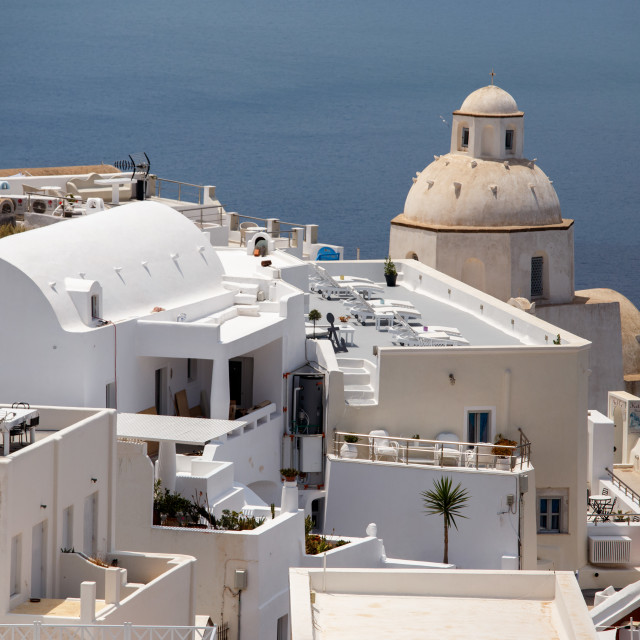 """""""View from Fira - Santorini"""" stock image"""