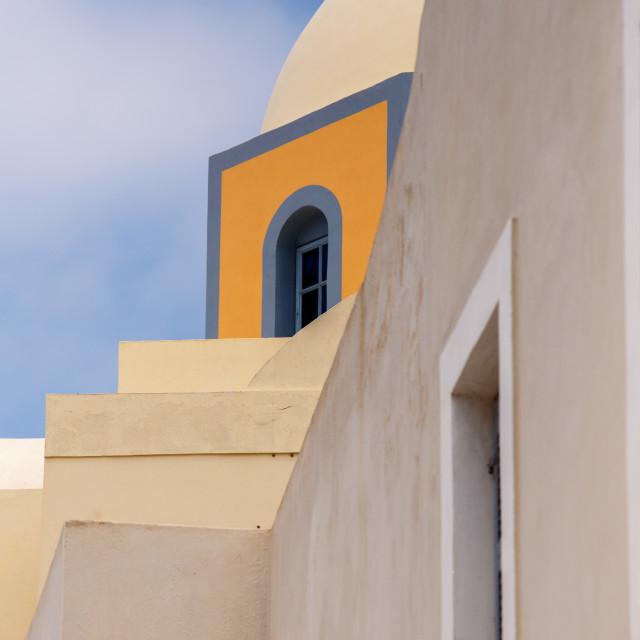 """Church at Fira town - Santorini"" stock image"