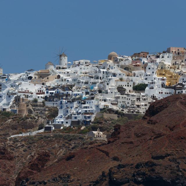 """Oia Village - Santorini Island Greece"" stock image"