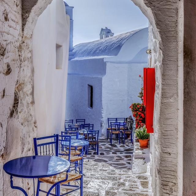 """Amorgos Island streets"" stock image"
