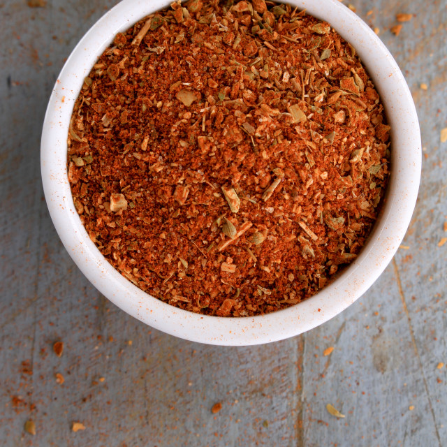 """mexican fahita spice blend"" stock image"