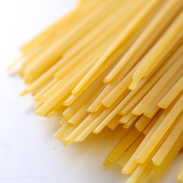 """dried Italian pasta linguine"" stock image"