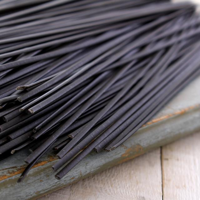 """""""pasta Italian Squid ink linguine"""" stock image"""