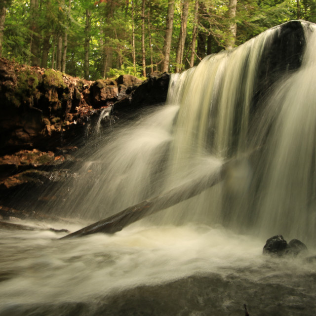 """Upper Chapel Falls"" stock image"