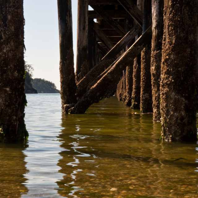 """""""Pier support"""" stock image"""
