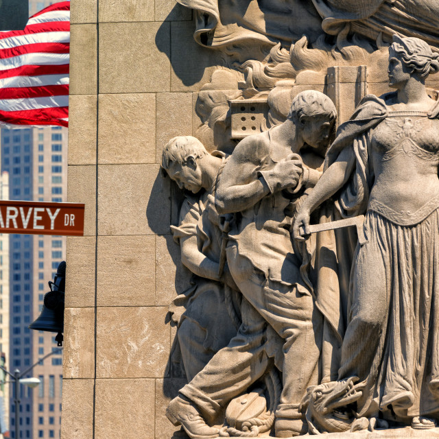 """""""Paul Harvey Drive: Downtown Chicago"""" stock image"""