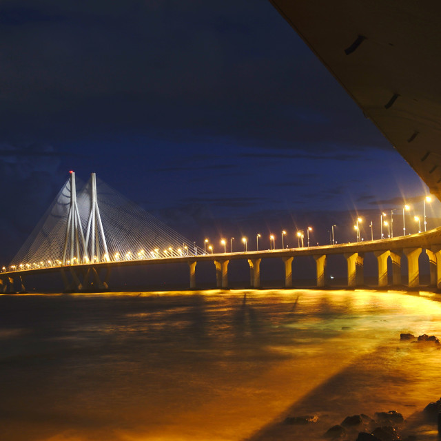 """Mumbai Sea link"" stock image"