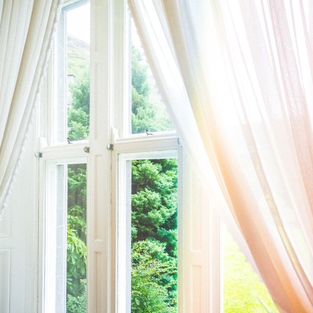 """Window with curtains"" stock image"