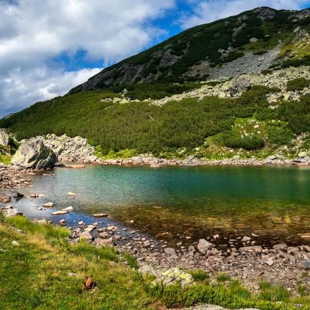 """""""High altitude glacial lake"""" stock image"""