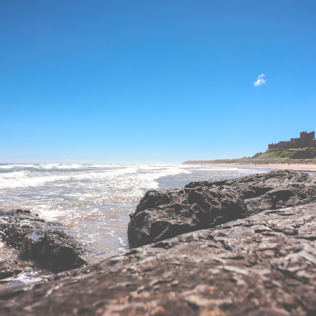 """View to Bamburgh Castle"" stock image"