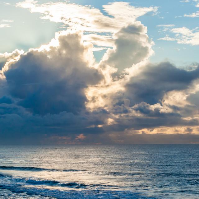 """Ocean Waves Clouds Landscape"" stock image"