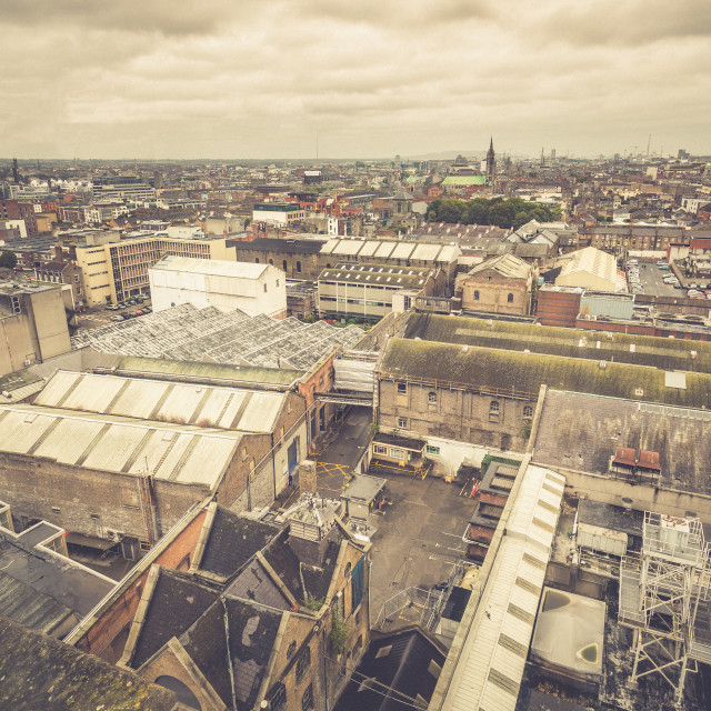 """Aerial view of Dublin"" stock image"