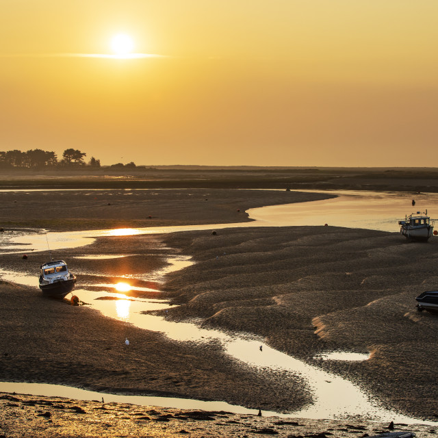 """Low tide sunrise"" stock image"