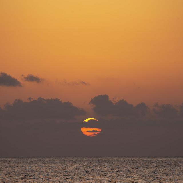 """Carribean sunrise"" stock image"