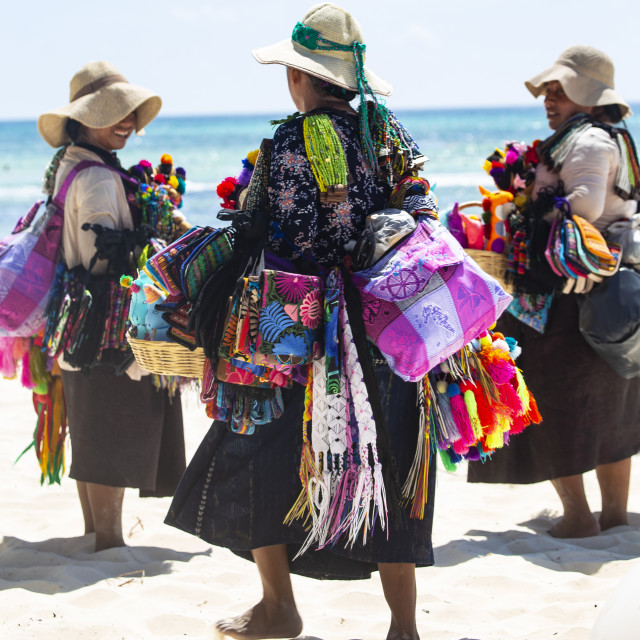 """""""Beach sellars in Mexico"""" stock image"""
