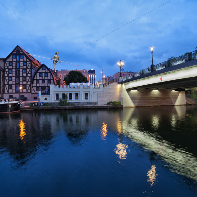 """""""Evening in the City of Bydgoszcz"""" stock image"""
