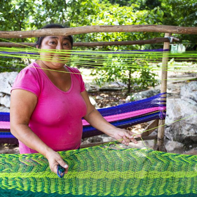 """Mayan hammock manufacture"" stock image"