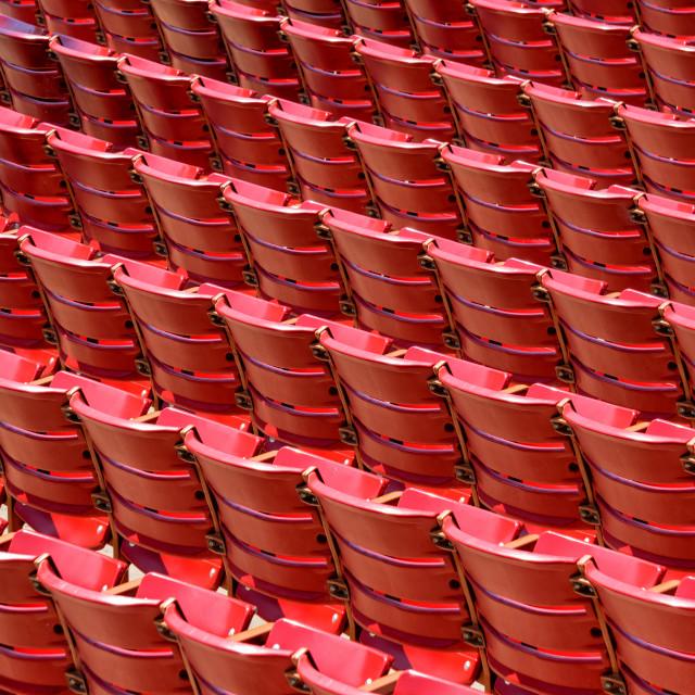 """Grandstand Seating: Jay Pritzker Pavilion, Chicago"" stock image"