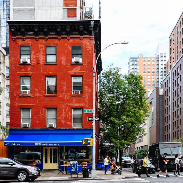 """Hells Kitchen street scene in New York City"" stock image"