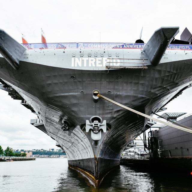 """Aircraft carrier museum in New York City"" stock image"