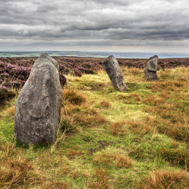 """Twelve Apostles Stone Circle Burley Moor"" stock image"
